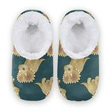 Women Home Slippers, Cute Animal Coral Fleece Slippers Mens House Shoes for Home, (US 5-6)