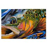 RSADGER Brook Trout Fly Fishing Christmas Puzzles for Adults 1000 Piece Kids Game Toys Gift Home Decor