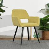 """George Oliver Corona 22.05"""" Wide Polyester Armchair Polyester/Polyester blend/Fabric in Black/Brown/Yellow, Size 30.7087 H x 22.05 W x 16.9 D in"""