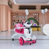 TOBBI_TOYS Three-in-one Kid's Electric Robot Buggy Toy Car w/Remote Control Plastic in Pink, Size 37.0 H x 18.11 W x 31.5 D in | Wayfair