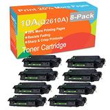 8-Pack Compatible Printer Toner Cartridge Replacement for HP 10A Q2610A Printer Toner use for HP Laserjet 2300 2300d 2300dn 2300dtn 2300L 2300n Printer (Black, High Yield)