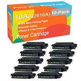 10-Pack Compatible Printer Toner Cartridge Replacement for HP 10A Q2610A Printer Toner use for HP Laserjet 2300 2300d 2300dn 2300dtn 2300L 2300n Printer (Black, High Yield)