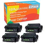 4-Pack Compatible Printer Toner Cartridge Replacement for HP 10A Q2610A Printer Toner use for HP Laserjet 2300 2300d 2300dn 2300dtn 2300L 2300n Printer (Black, High Yield)