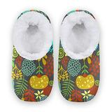 Women Home Slippers, Colorful Birds Coral Fleece Slippers Mens House Shoes for Home, (US 9-10)