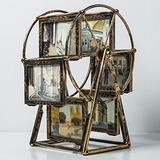 PANRODO Retro Statue Ferris Wheel Model Sculptures Metal Iron Creative Picture Frame Craft Gift Home Desktop Ornament