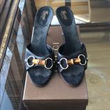 Gucci Shoes   Authentic Gucci Monogram Gg Black Canvas Mules   Color: Black   Size: 10