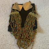 Free People Jewelry | Multi-Color Bead Necklace Nwt | Color: Gold/Tan | Size: Os
