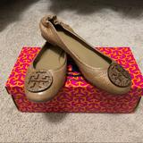 Tory Burch Shoes | Like New Tory Burch Reva Neutral 7.5 | Color: Tan | Size: 7.5