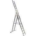BRB Alu-Vielzweckleiter, 3x10 Stufen