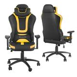 Dasun Gaming Chair Faux Leather/Upholstered in Yellow, Size 50.0 H x 28.0 W x 28.0 D in   Wayfair ht-W46119162-Yellow