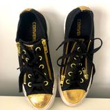 Converse Shoes | Rare Converse Black And Gold Sneakers | Color: Black/Gold/White | Size: 6