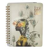 Papaya! Women's Notepads and Notebooks Brown - Brown 'You Always Catch The Light' Universe Spiral Notebook