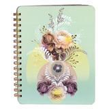 Papaya! Women's Notepads and Notebooks Green - Green Solar Blooms Spiral Notebook