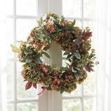 Faux Floral Hydrangea Wreath - Ballard Designs