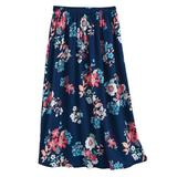 Women's Petite Elisabeth Williams® Print Challis Skirt, Rich Indigo Floral P-XL