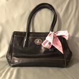 Coach Bags   Coach Black Leather Handbag - Euc.   Color: Black/Pink   Size: 11.5 X 8 X 4