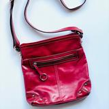 Nine West Bags | Nine West Red Leather Crossbody Bag | Color: Red | Size: Os