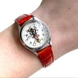Disney Accessories   Minnie Mouse Red Leather Watch   Color: Red/Silver   Size: Os
