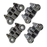 4 Pack W10195416V Lower Dishwasher Wheel Replacement for Maytag Kitchen Aid Whirlpool Kenmore. Dishwasher Lower Dishrack Wheel with Steel Screw Replace 4245021, W10195416, W10195416VP, W10195418