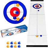 HUIJ Curling Game,Tabletop Curling Game Toys Team Board Game Educational Puzzle Fun Game Gift for Kids and Adults