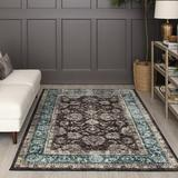 Charlton Home® Brynulf Oriental Tufted Brown/Area RugPolyester in Blue, Size 72.0 H x 48.0 W x 0.41 D in | Wayfair 6E73415E2A104222A79D0039FF8F1F0A