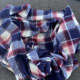 Madewell Accessories | Madewell Plaid Scarf. | Color: Blue/Purple | Size: Os