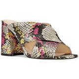 Nine West Shoes | Nine West Gigi Crossband Mules Pink Snake | Color: Pink/Yellow | Size: Various