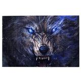 NiYoung 1000 Pieces Jigsaw Puzzle Large Puzzle Game Fun Family Puzzles Game Unique Jigsaw Back to School Gift (Angry Wolf)
