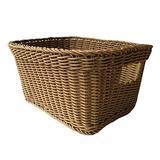 Cabilock Rattan Woven Wicker Basket Rattan Woven Laundry Storage Basket Hand Woven Laundry Hamper