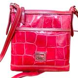 Dooney & Bourke Bags | Dooney & Bourke Red Leather Crossbody Bag | Color: Gold/Red | Size: Os