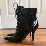 Nine West Shoes | Nine West | Patent Leather Heeled Boots | Color: Black | Size: 6