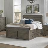 Birch Lane™ Eskew Solid Wood Storage Platform Bed Wood in Black, Size 66.0 W x 88.0 D in   Wayfair 9ABF4751F8784852BB2343B1D84DEACD