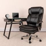 Flash Furniture High Back Executive Chair Upholstered in Black/Gray, Size 49.0 H x 28.0 W x 31.0 D in   Wayfair FFSGO-2078-LEA-GG