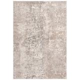 Industrial Lodge Home Stratton Abstract Light Gray/Beige Area Rug Polypropylene in White, Size 72.0 H x 48.0 W x 0.3 D in | Wayfair
