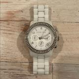 Michael Kors Accessories   Michael Kors Chronograph White Ceramic Watch   Color: White   Size: Os