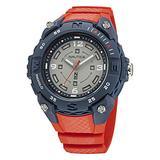 Nautica Men's Quartz Integrated Resin Strap, Red, 20 Casual Watch (Model: NAPCNF004)