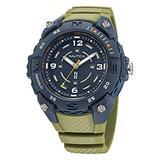 Nautica Men's Quartz Integrated Resin Strap, Green, 20 Casual Watch (Model: NAPCNF005)