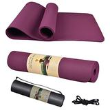 """Yoga Mat, Thick Non-Slip Exercise Mats for Home Workout, Pilates, Yoga, Exercise and Fitness, Yoga Mat Backpack (72"""" X 24"""" X 1/4"""") (Purple)"""