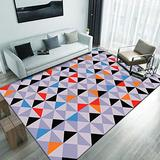 Area Rugs for Bedroom and Living Room, 5.3'X7.5'. Modern, Washable, Nonslip, Printed with Geometrical Motif and Abstract Designs. Black,White, Grey,Pink and Multicolor Rugs. Multicolor Motif