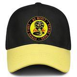 Cobra Kai Hat Adjustable Snapback Hats Baseball Caps for Mens Womens Yellow