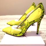 Jessica Simpson Shoes | Jessica Simpson 4in Stiletto Heel Pumps Wbox New! | Color: Green/Yellow | Size: 7