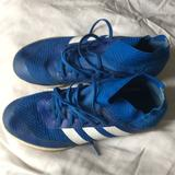 Adidas Shoes   Adidas Kids Size 3.5 Indoor Soccer Shoes   Color: Blue/White   Size: 3.5bb