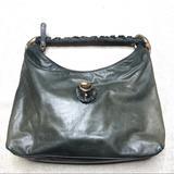 Gucci Bags | Gucci Ruffle Sabrina Dark Green Leather Hobo Bag | Color: Black/Green | Size: Os