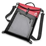 """AquaQuest Typhoon Laptop Case - 100% Waterproof, Versatile, Durable, Lightweight, Compact Messenger Bag - Protective Padded Computer Sleeve Pouch Cover - 15"""" Red"""