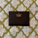 Kate Spade Bags | Kate Spade Slim Credit Card Holder Wallet - Black | Color: Black/Gold | Size: Os