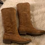 Nine West Shoes | Nine West Seabay Brown Suede Knee High Flat Boots | Color: Brown | Size: 9