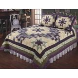 Amelia Patchwork Quilt Purple, King, Purple