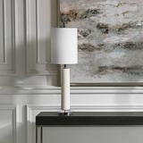 Windsor Ivory Crackle Glaze Ceramic Buffet Table Lamp