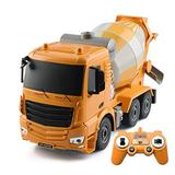 ZHANGL 1/26 Remote Control Engineering Truck Concrete Cement Mixer 2.4G Charging Electric Toy Tanker is A Toy Car for Children's Christmas Birthday Gifts