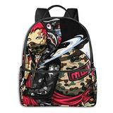 NiYoung Boys Grils Rucksack Back to School Gift - Anime Bapes Camo Shark Teeth Art Carry On Bag Casual College School Daypack Camping Outdoor Backpack, Casual Daypack Climbing Shoulder Bag